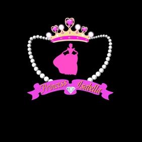 Princess badge/emblem Logo template