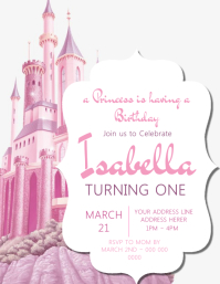 Princess Castle Invitation Template