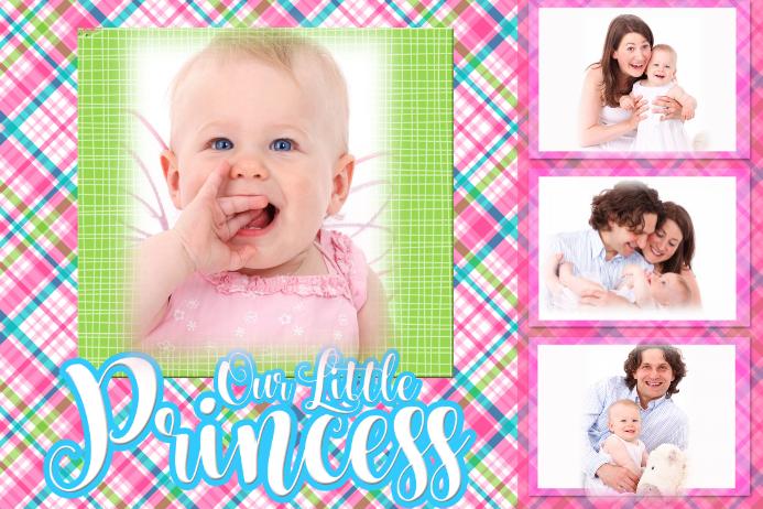 Princess Collage Invitation Announcement Poster Template
