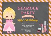 Princess makeup joint party A6 template