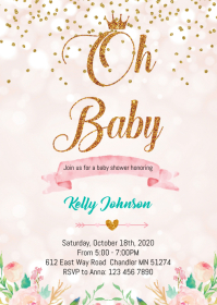 Princess shower party invitation