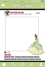 Princess Tiana Party Prop Frame