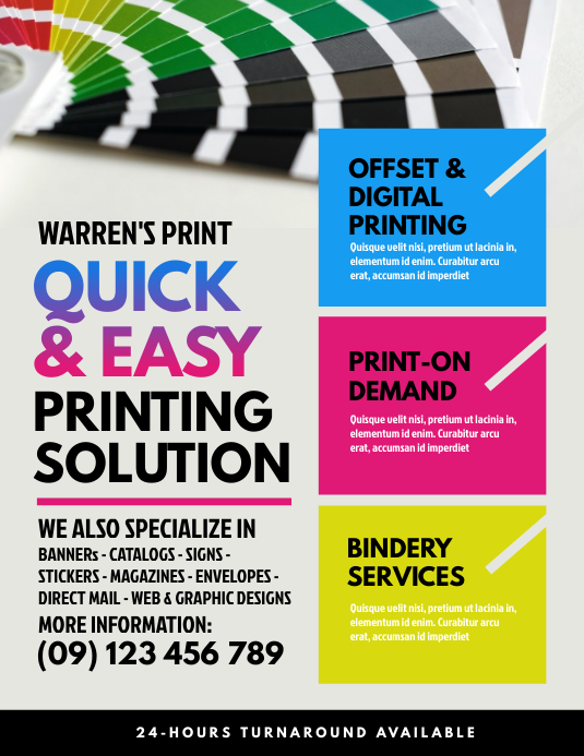 Print Shop Flyer Template PosterMyWall