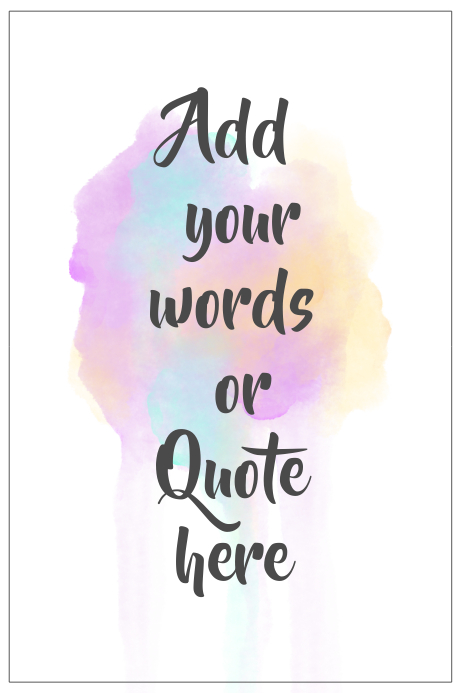 Printable Colorful Wall Art Quote Template