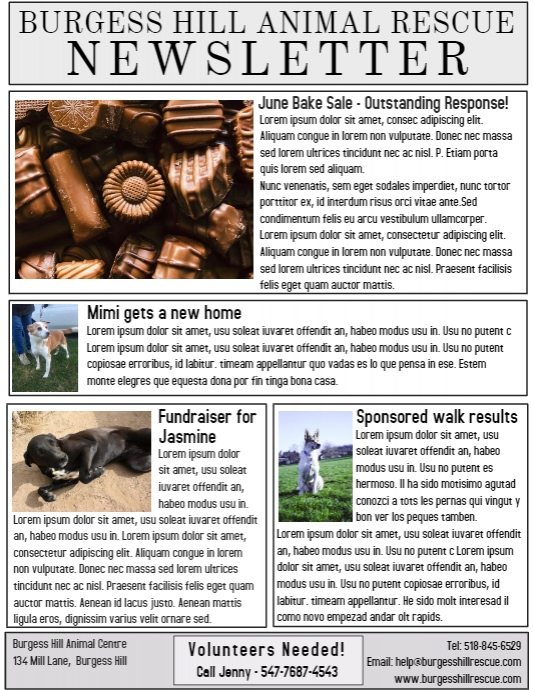 printable newsletter template postermywall