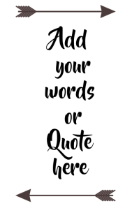 Printable Quote Wall Art Template