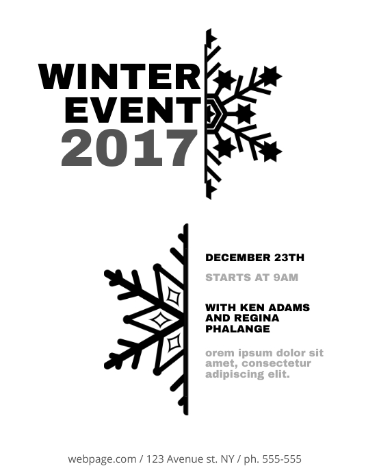 Printable Winter Flyer Template