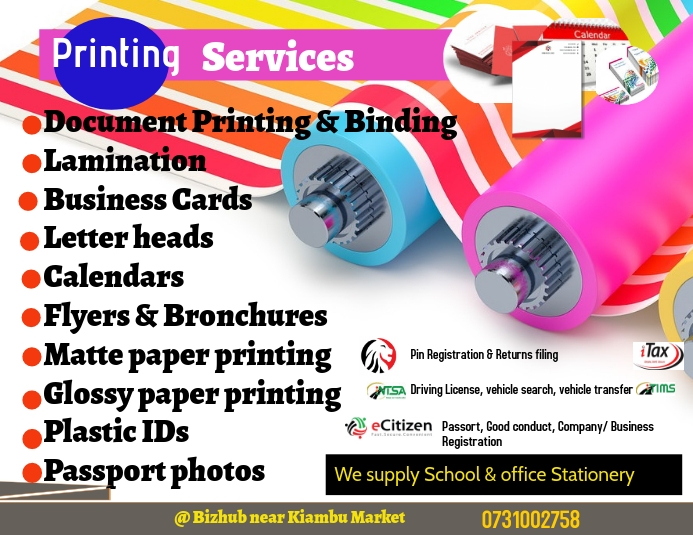 Printing and branding Services Pamflet (Letter AS) template