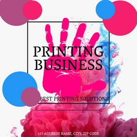 PRINTING BUSINESS LOGO DESIGN TEMPLATE