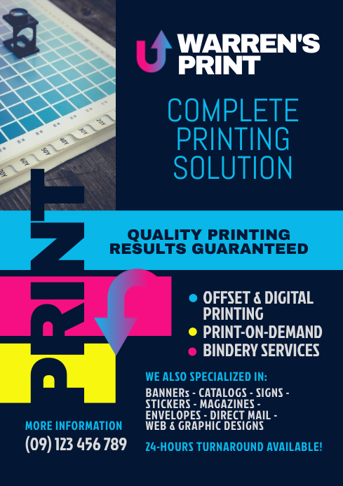 Printing Company Flyer Template PosterMyWall