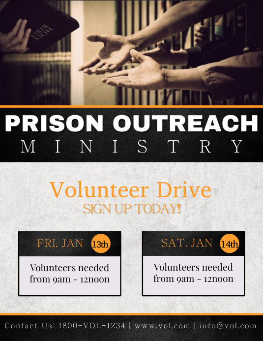 Prison Ministry Template Postermywall