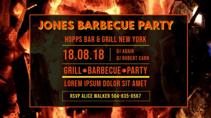 Private BBQ Party Invitation Video Template
