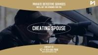 Private Detective Investigator Video Ad Digitale Vertoning (16:9) template