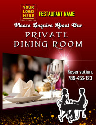 Restaurant Flyer Template · Private Dining