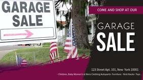 Private Garage Sale Banner Video