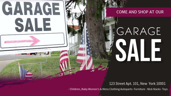 Private Garage Sale Banner Video