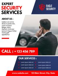 private security flyer advertisement Løbeseddel (US Letter) template