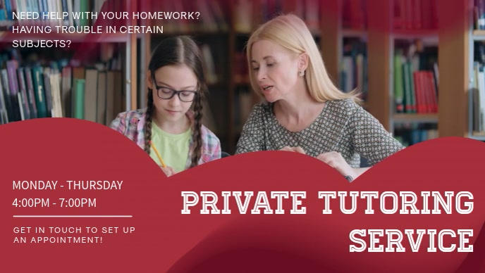 Private tutor Service Video Ad Template