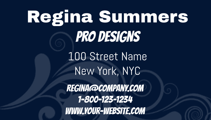 Pro Designs Business Card