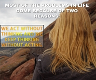 PROBLEMS OF LIFE QUOTE TEMPLATE Rectangle moyen