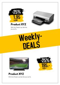 Product flyer deal sale magazin store a4 retail shop