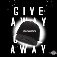 Product Giveaway Social Media Publicación de Instagram template