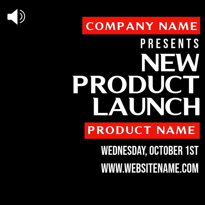 Product Launch Promo Video Template