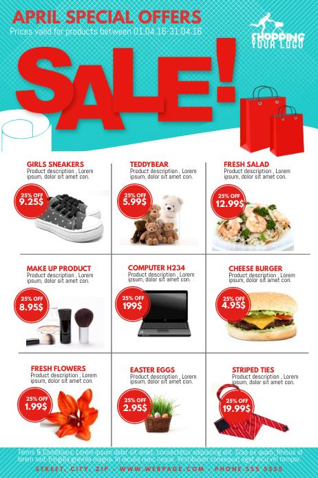 Product Promotion Big sale offer market Flyer Template