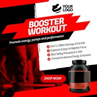 Product workout powder booster Pos Instagram template