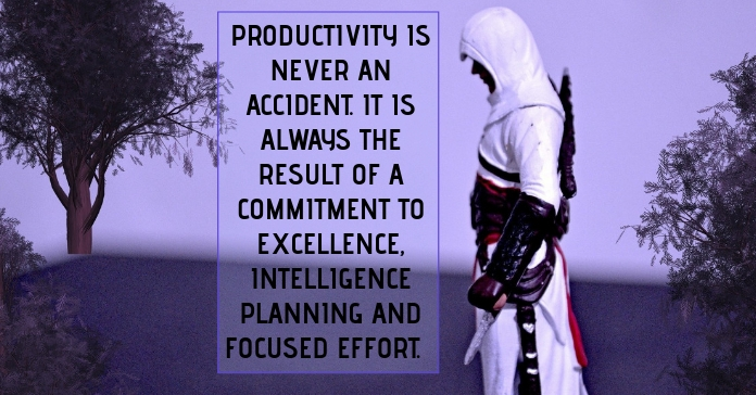 PRODUCTIVITY AND EFFORT QUOTE TEMPLATE Facebook Ad