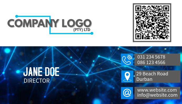 Professional business card with image