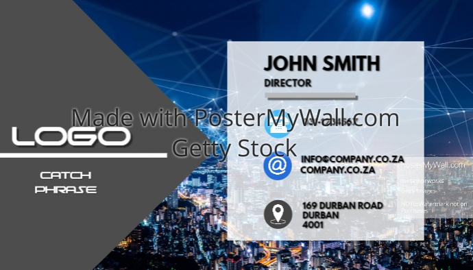 Professional Business Card With Image Template Postermywall