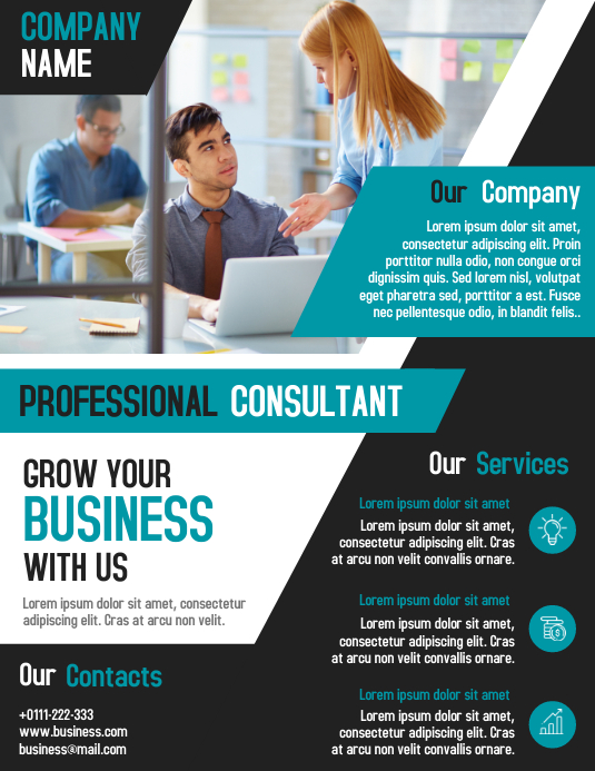 Professional Business Consultant Flyer Design Template