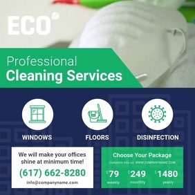 Professional Cleaning Service Ad Square Video template
