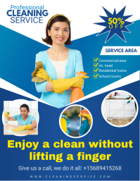Professional Cleaning Service Flyer Design