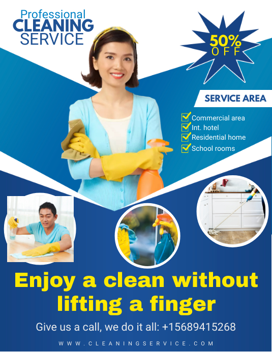 Professional Cleaning Service Flyer Design Template PosterMyWall