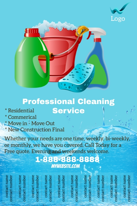 Professional Cleaning Service Flyer Template Postermywall