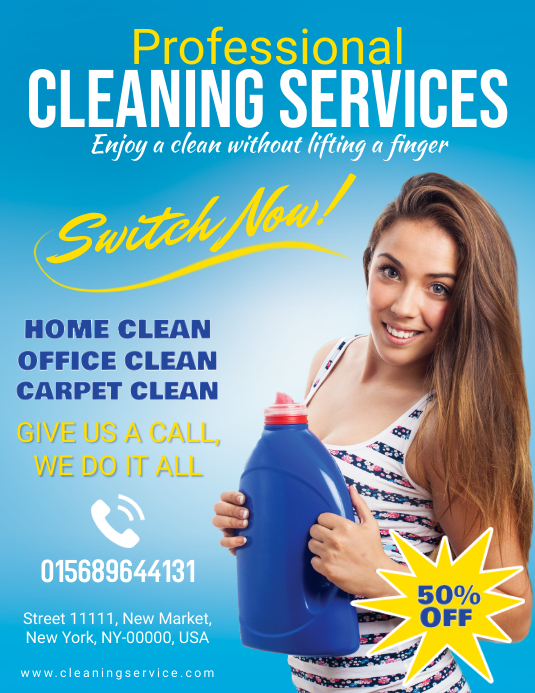 Professional Cleaning Service Social Media Ad Template