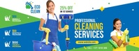 Professional Cleaning Services Ad Fotografia de capa do Facebook template