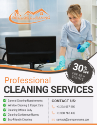Professional Cleaning Services Business Flyer