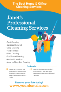 Professional Cleaning Services Flyer Poster