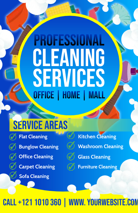 Professional Cleaning Services Template แทบลอยด์