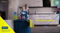 Professional Cleaning Services Video Ad Umbukiso Wedijithali (16:9) template