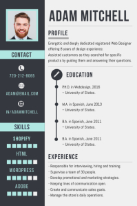 Professional Corporate CV Resume Design Poster template