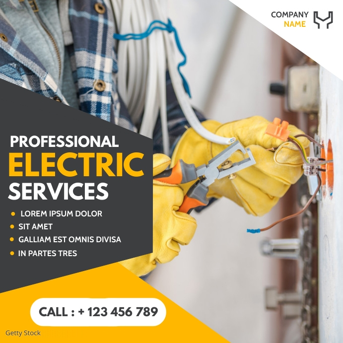 professional electric services social media a Pos Instagram template
