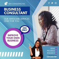 Professional Female Business Advisor Instagra Instagram Post template
