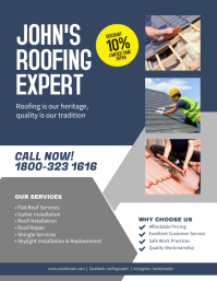 Professional Flooring Contractor Flyer Poster