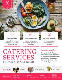 Professional Food Catering Service Flyer Temp Рекламная листовка (US Letter) template