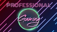 professional GAMING logo design template YouTube Channel Cover Photo