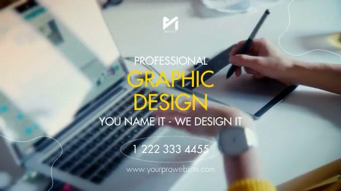 Professional Graphic Design Digitalt display (16:9) template